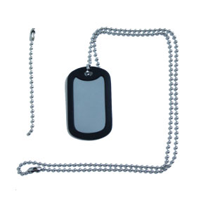 Dog Tag ketting rvs + Dog Tag silencer zwart